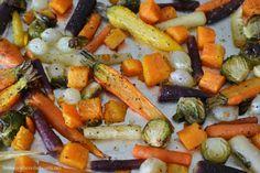 Roasted Harvest Vegetable Salad with Apple Cider Vinaigrette