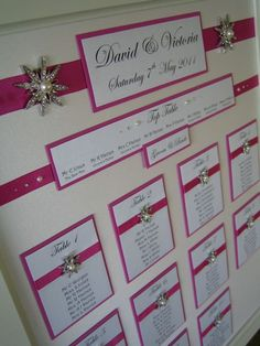 Wedding Table Plan use in color coordinate for your wedding