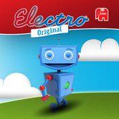 Generaties zijn opgegroeid met Electro en is eindelijk de iPadversie beschikbaar! Electro is bedoeld voor jonge kinderen die nog niet (goed) kunnen lezen. Elke kaart bevat een aantal vragen en antwoorden gericht op het leren van een bepaalde vaardigheid. Kinderen combineren de vraag in de het linkerdeel met het juiste antwoord in het rechterdeel door deze tegelijkertijd aan te raken. Robbie de Robot is bij elke opdracht de gids!