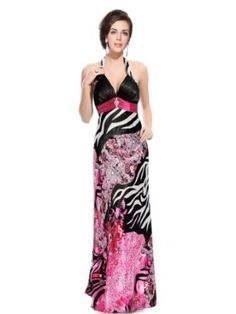 Ever Pretty Halter Floral Printed Diamante Open Back Long Formal Gown Dress 09340 - Sale: $49.99