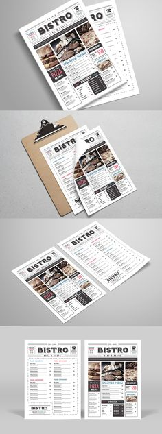Newspaper Style Food Menu Food Menu Psd Templates And Newspaper