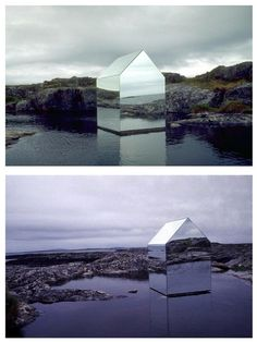 Ekkehard Altenburger, Mirror house, Temporary installation on the Isle of Tyree, Scotland. Mirror on steel frame. House Of Mirrors, Landscape Architecture, Interior Architecture, Interior And Exterior, Glamping, Instalation Art, Interior Minimalista, Cabins In The Woods, Glass House