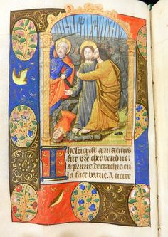 Jesus Betrayal, Judas' kiss - LTPSC Book of Hours