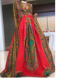 This is my dress!!! This is the one I want!!!!! African print dress dashiki prom by AfrofusionShop on Etsy