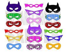 38 Awesome printable superhero mask images