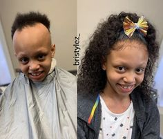 When you use your gift to change lives😍  Such a beautiful transformation by @_bristylez_ on this little beauty with alopecia ❤️  Her smile says it all🙌🏾 Isn't she beautiful 💕 ✨ Beauty Tips For Teens, Beauty Tips For Skin, Hair Beauty, Curly Full Lace Wig, Curly Wigs, Lace Front Wigs, Lace Wigs, Easy Braid Styles, Natural Hair Journey