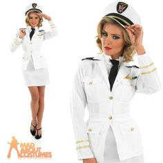 #Womens #1940s navy officer ladies sailor costume fancy dress ww2 naval #uniform, View more on the LINK: http://www.zeppy.io/product/gb/2/182393863337/