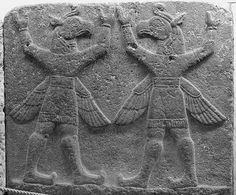 027 Hittites:  Apotropaic figures - Two winged griffins carrying the firmament, Mythological scene, The Herald Wall's reliefs, Carchemish
