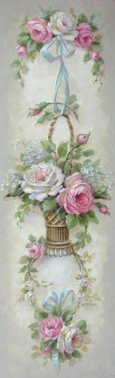 roses via ❦ Rose Cottage ❦ | Pinterest)