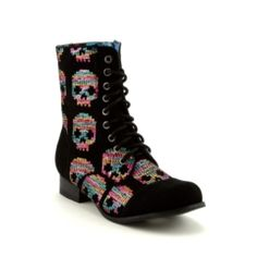 Womens Iron Fist Combat Boot, Black, at Journeys Shoes