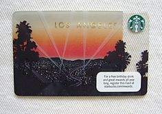 Do you collect Starbucks Gift Cards?  Here is a 2012 Los Angeles Limited Edition Regional Starbucks gift card.