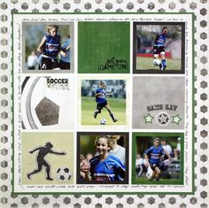 Sports Scrapbooking Layout Idea from Creative Memories