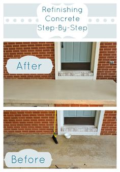 Refinishing a Concrete Patio-Easy, Step by step tutorial