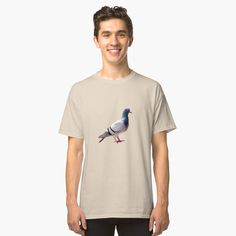 'Pigeon funny design' Classic T-Shirt by Juaco Pigeon Funny, Canvas Prints, Art Prints, My T Shirt, Funny Design, Cotton Tote Bags, Chiffon Tops, Classic T Shirts, Printed