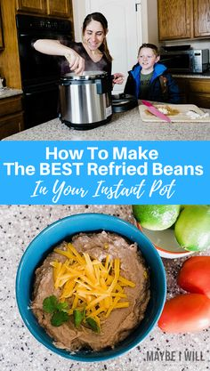How To Make Refried Beans in your Instant Pot.  Making homemade refried beans is a breeze, perfect smooth and flavorful beans every time!