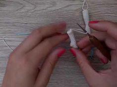 Как связать фигуристую ногу для куклы Эльзы крючком - YouTube