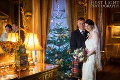 Wedding at Christmas, Hopetoun House, South Queensferry, Edinburgh. Wedding photographer, Edinburgh Copyright: First Light Photography