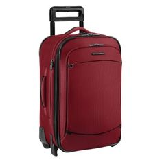 Briggs & Riley Luggage 22 Inch Carry On Expandable Upright Bag in RED; TU222X