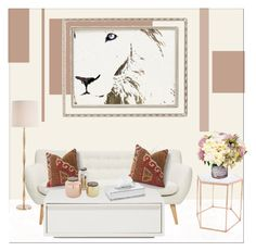 """Sweet Living Room!"" by galdin on Polyvore featuring interior, interiors, interior design, home, home decor, interior decorating, Bloomingville, Haffke, Arteriors and Greggio"