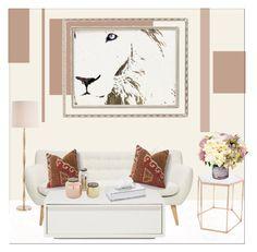"""Sweet Living Room!"" by galdin on Polyvore featuring interior, interiors, interior design, home, home decor, interior decorating, Bloomingville, Haffke, Arteriors and Greggio"