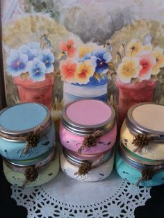 8 oz. Heart Warmer Country Color candles.  by Karensheartsandcraft