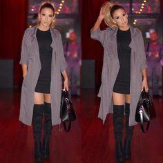 LUSTRELUX | Coat - Lulus | Dress - Image | Boots - Guess