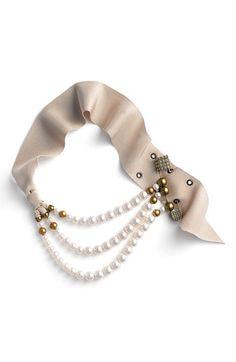 Lanvin Triple Strand Pearl Necklace