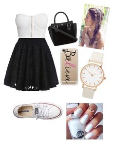 """Black & white"" by miazinhaa on Polyvore featuring beauty, NLY Trend, Converse and Casetify"