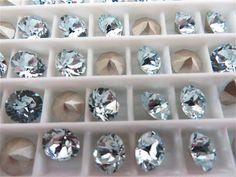 12 Light Azore Foiled Swarovski Crystal Chaton Stone 1088 29SS 6mm   eBay