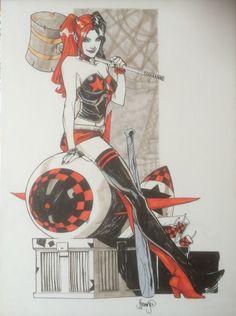 John Timms Harley Quinn, in Fons van Erp's Harley Quinn and Poison Ivy Comic Art Gallery Room