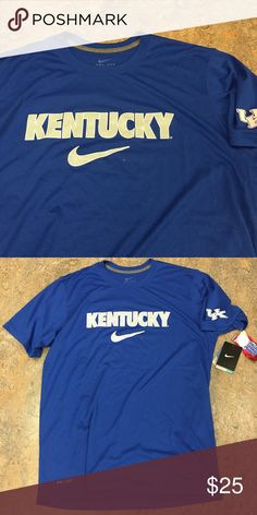 Kentucky Wildcats Nike Dri-Fit Legend Medium Shirt Kentucky Wildcats Nike Dri-Fit Legend T-Shirt. Size Medium. Save money by bundling with other products. Nike Shirts Tees - Short Sleeve