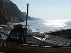 Fishing boats at Port Royal, Sidmouth Devon Cliffs, Beach Frame, British Home, South Devon, Port Royal, Devon England, Seaside Resort, Fishing Boats, Homeland