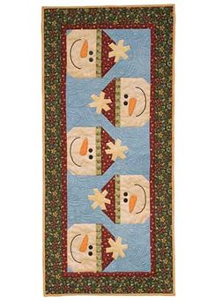 Winter Through the Seasons Table Runner Pattern