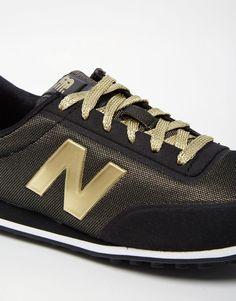 New Balance Black & Metallic Gold Trainers - Welcome to my wish list