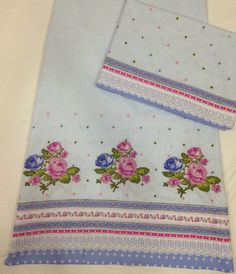 Light Blue Rida - Patchwork Roses
