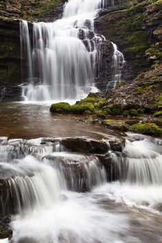 Scaleber Force (Foss Waterfall) near Settle, North Yorkshire, Yorkshire…