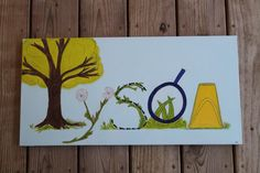Lovingly designed and hand painted specifically for that special child in your life. Your loved ones name will transform into a outdoor scene. Fairy