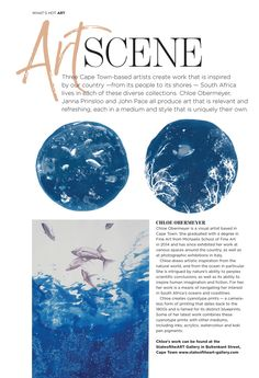Read about Chloe Obermeyer and Janna Prinsloo in the Summer 2019 edition of Southern Vines Magazine. Vines, Chloe, Southern, Africa, Scene, Gallery, Artist, Summer, Outdoor