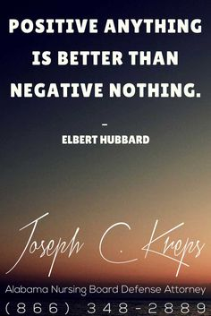#Nursing #Board #Defense #Attorney #Alabama - We are here now to help you with your #Nursing #Charges. Call Today. Positive anything is better than negative nothing. - Elbert Hubbardhttps://www.krepslawfirm.com/2017/08/30/nursing-board-defense-attorney-alabama-392/ - #KLF
