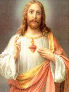In art, Jesus has great clothes and accessories (halo, Sacred Heart, sandals)