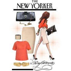 So many lovely things - Inslee's illustration, my favorite weekly magazine, pencil skirts and chic style