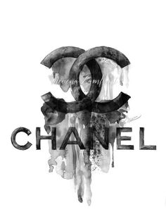 coco chanel logo drips painting illustration  chanel  cocochanel ... 7f9a8dbe9b19e
