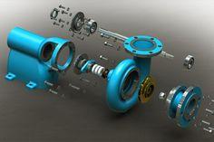 Centrifugal pump - SOLIDWORKS - 3D CAD model - GrabCAD