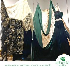 #albertotecidos #tecidos #cuiaba #festa #vestido #casamento #formatura #moda #tendencia #inspiracao #inspiration #velvet #veludo #renda #tulebordado #tulefloral #vitrine