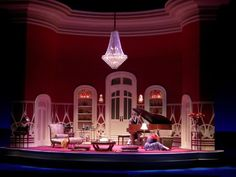 Private Lives. Seattle Repertory Theatre. Set Design by Walt Spangler.