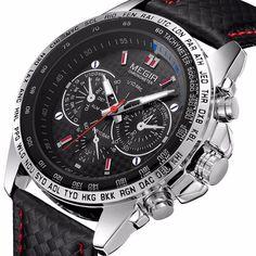 f7b8c6b9468d Details about MEGIR Men s Stainless Steel Analog Waterproof Sports Quartz  Military Wrist Watch. Relojes ChinosModa ...