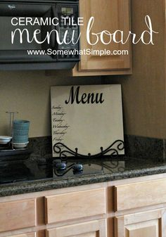 How to make a menu board from a tile!! How easy is this?!