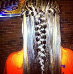 waterfall braids joined in the back