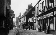 ENGLAND...... LEIGH-ON-SEA.   Quality reproduction photograph of Leigh-on-Sea, Essex - many of these buildings are still around!