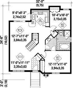 House Plan 52367 Level One